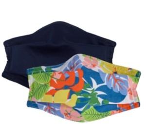 Echo Cotton Solid & Tropical Floral Face Mask 2pc Set