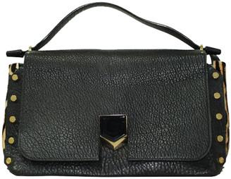 Jimmy Choo Black Leather Top Handle Bag