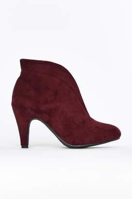 Wallis **Burgundy Elastic Shoe Boot