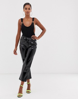 Lioness Marry the night vinyl pants in black