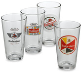 Bed Bath & Beyond Retro Budweiser 12-Ounce Glasses (Set of 4)
