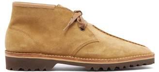 Lemaire Suede Desert Boots - Mens - Beige