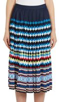 Mary Katrantzou Aura Multi-Print Knit Jacquard Skirt