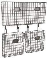 Aurora Hanging Wire Baskets - Bronze