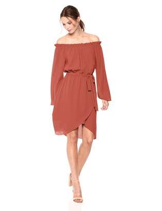Ali & Jay Women's Get Me to The Greek Off The Shoulder Belted Dress
