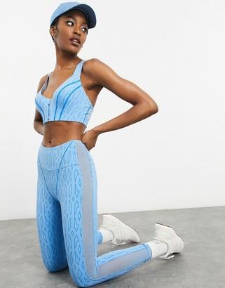 Ivy Park adidas x monogram sheer leggings in light blue