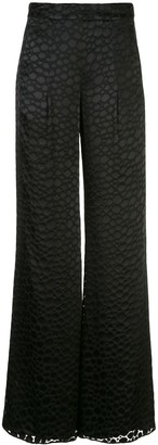 Alexis Galini high waisted palazzo trousers