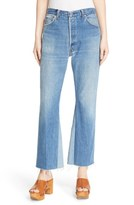RE/DONE Women's 'The Leandra' Reconstructed High Rise Crop Flare Jeans