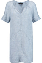 J Brand Ada Linen Chambray Mini Dress