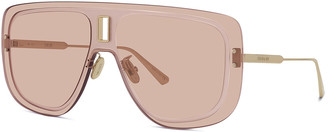 Christian Dior Rimless Metal Shield Sunglasses