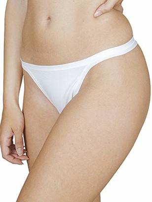 PETTI Artigiani Italiani Women's Mutandine a Perizoma Donna Semplici E Con Pizzo Perizomi Ragazza Puro Cotone 100% Made in Italy (Pacco Da 6) Thong Cotton Low Waist Panties Pack of 6