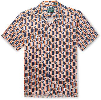 Gitman Brothers Camp-Collar Printed Linen Shirt - Men