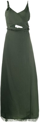 Nanushka Twisted Wrap Dress