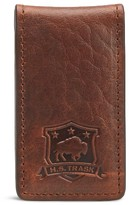 Trask Men's Leather Money Clip - Brown