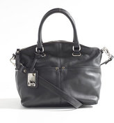 Tignanello Polished Covertible Satchel - Black