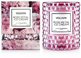 Voluspa Rose Petal Ice Cream Cloche Candle