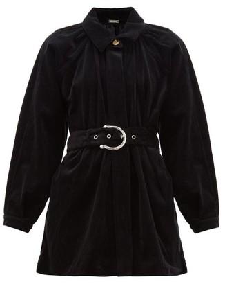 Dodo Bar Or Bella Belted Cotton-blend Corduroy Jacket - Black