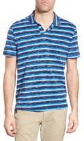 Michael Bastian Men's Stripe Print Jersey Polo