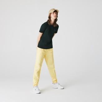 Lacoste Women's LIVE Slim Fit Stretch Pique Zip Polo Shirt