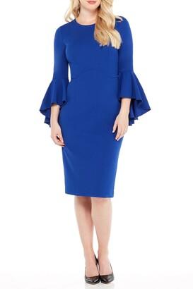 Maggy London Sasha Bell Sleeve Midi Dress
