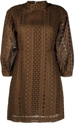 Baum und Pferdgarten Empire Line Embroidered Short Dress