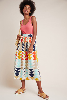 Gianna Abstract Maxi Skirt By The Odells in Assorted Size XS