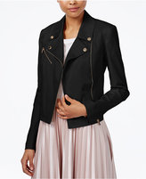 Rachel Roy Zipper-Pocket Moto Jacket, Created for Macy's