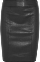 Joseph Clara Leather Skirt - Black