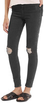 Topshop Jamie Shredded High Waist Skinny Jeans