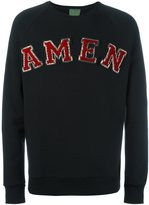 Amen logo patch sweatshirt