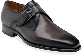 Magnanni Men's Marco II Single-Monk Leather Dress Shoes