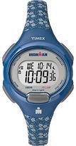 Timex Women's Ironman Essential 10 Lap | Timer Blue Floral Sport Watch TW5M07100