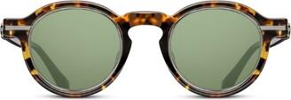 Matsuda Thick-Frame Round Sunglasses