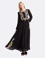 Cynthia Rowley Embroidered Georgette Dress