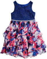Sweet Heart Rose Cascade Floral-Print Dress, Little Girls (2-6X)