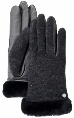 UGG Jamisa Womens Leather Gloves winter (M - black)