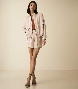 Reiss IMMIE SHORT SATIN SHORTS Pale Pink