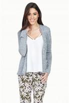 Select Fashion Fashion Womens Grey Spacedye Jersey Jacket - size 14