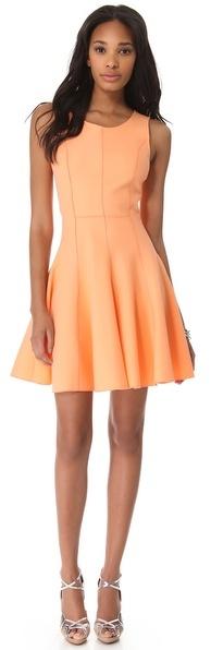 Halston Flared Skirt Ponte Dress