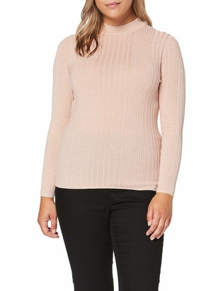 New Look Curves Women's Metallic Rib Fitted Jumpers