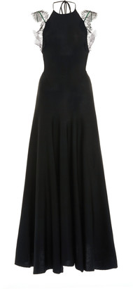 Victoria Beckham Compact Shine Fit-And-Flare Dress