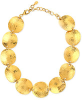 Jose & Maria Barrera Gold-Plated Hammered Disc Necklace