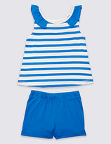 Marks and Spencer 2 Piece Pure Cotton Outfit (3 Months - 5 Years)