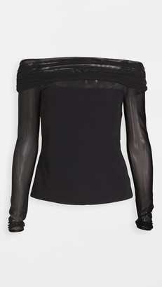 Cushnie Off Shoulder Cropped Top