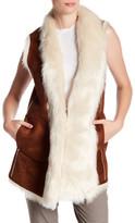 Andrew Marc Sasha Faux Fur Lined Vest