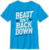 Chin Up Apparel Boys' Tee Shirts TURQ - Turquoise 'Beast Don't Back Down' Crewneck Tee - Boys