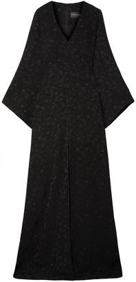 Brandon Maxwell Satin-jacquard Gown
