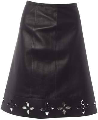 Louis Vuitton \N Anthracite Leather Skirts