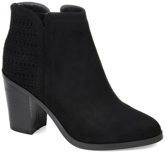 Journee Collection Jessica Weave Ankle Bootie
