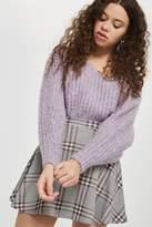 Topshop PETITE Check Flippy Skirt